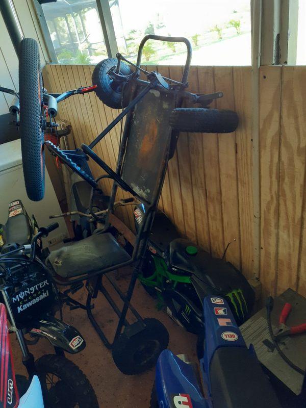 Go kart frame and big tire mini bike