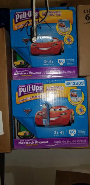Huggies and pampers brand diapers and pull ups. Over nights as well and chuck or pee pads. for Sale in San Antonio, TX