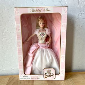 Vintage 1998 Mattel Collectors Edition First In Series Birthday Wishes Barbie Doll Toy New Sealed In Box for Sale in Elizabethtown, PA
