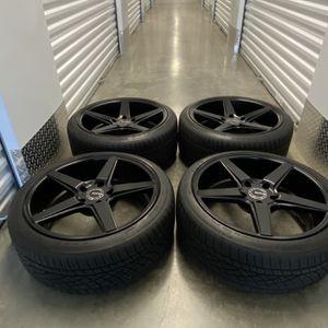 KMC Black Wheels Rims 5x120 BMW 328 335 And More for Sale in Manassas, VA