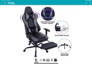 VON RACER Massage Gaming Chair - High Back Racing PC Computer Desk Office Chair Swivel Ergonomic Executive Leather Chair with Footrest and Adjustable for Sale in Fairfax, VA