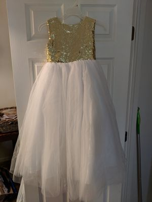 Gold and white flower girl dress for Sale in Groveport, OH