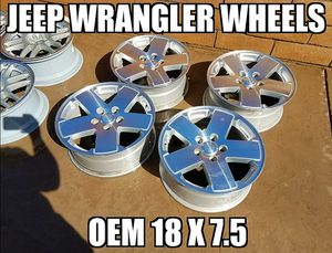 Set Of 4 Oem Jeep Rubicon 18 x 7.5 Wheels for Sale in Rancho Cucamonga, CA