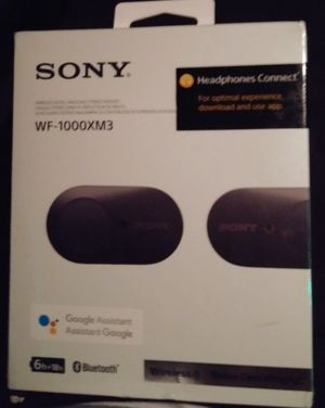 Sony WF-1000XM3 bluetooth noise cancelling headphones for Sale in San Diego, CA