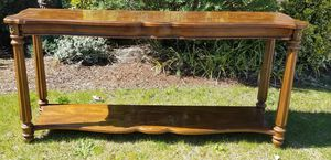 """Solid wood 56"""" L x 27"""" H Table for Sale in Happy Valley, OR"""