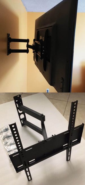 New in box universal 22 to 55 inch swivel extending full motion tv television wall mount bracket single arm for Sale in Los Angeles, CA
