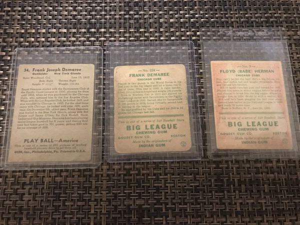 1930's baseball cards !!!!! $100 bucks