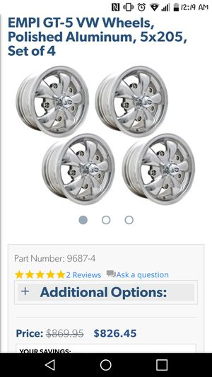 VW bug EMPI GT5 wheels for Sale in Stockton, CA