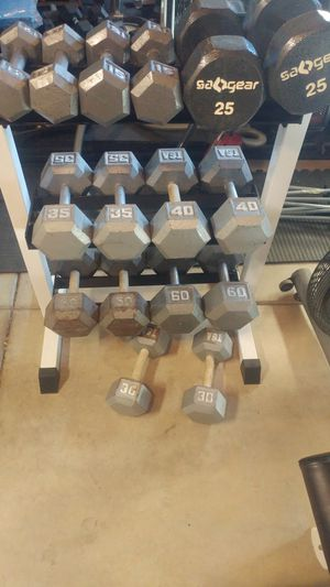 12-60 lb Dumbbell Set with 3-Tier Rack for Sale in Elk Grove, CA