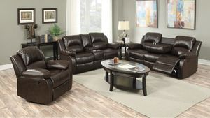 Galinda Brown Reclining Living Room Set for Sale in Pflugerville, TX