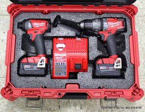 Milwaukee 2704-20 & 2753-20 M18 FUEL Brushless Hammer Drill & Hex Impact Driver Set for Sale in North Lauderdale, FL