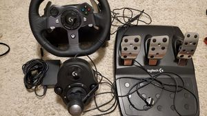 Logitech g29 xbox one and pc with shifter for Sale in San Antonio, TX
