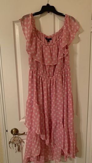 Brand New Pink and White Polka Dot Dress Size 18/20 for Sale in Upland, CA