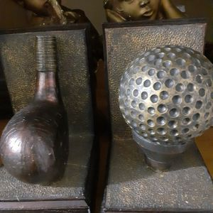 Golf Ball & Tee BookEnd Set for Sale in Oklahoma City, OK