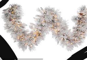 New!! Christmas decoration, artificial Christmas garland w 150 clear lights, arts craft for Sale in Phoenix, AZ