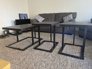 3 TABLES- 2 small, 1 large $125 OBO for Sale in San Diego, CA
