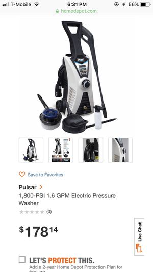Pulsar pressure washer 1800 psi. for Sale in Dearborn Heights, MI