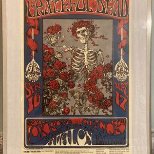 THE GRATEFUL DEAD 1966 AVALON BALLROOM Framed 12x18 CONCERT POSTER for Sale in Middlefield, OH