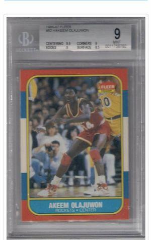 1986 fleer Hakeem Olajuwon Beckett 9 for Sale in Las Vegas, NV