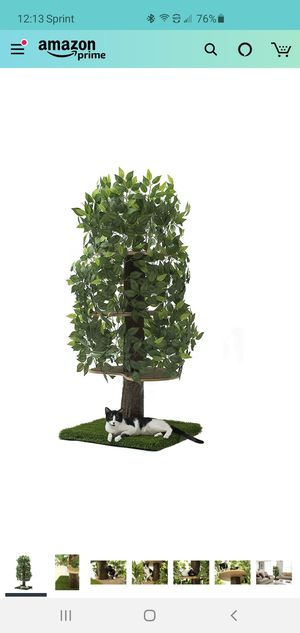 On2 Pets Cat Tree with Leaves Made in USA, Large Square Cat Condo & Cat Activity Tree in Evergreen for Sale in St. Petersburg, FL