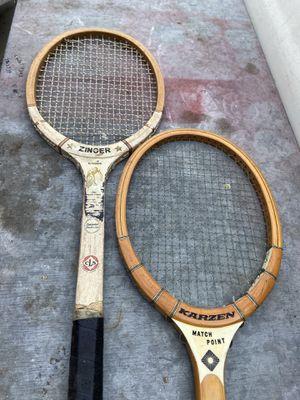 Vintage wooden tennis racket for Sale in La Palma, CA