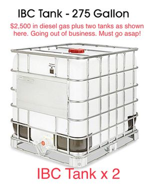 275 Gallon Diesel Gas Tank for Sale in Dallas, TX