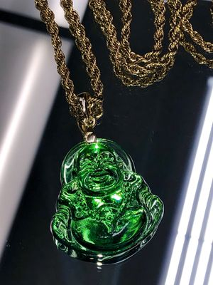 Beautiful Buddha pendant gold filled rope chain set for Sale in Hayward, CA