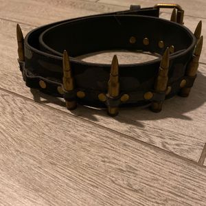 Grey Fatigue Goth Belt Size small for Sale in West Haven, CT