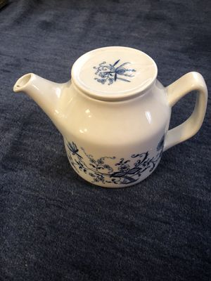 Vintage Porsgrund Norway blue and white teapot for Sale in Columbus, OH