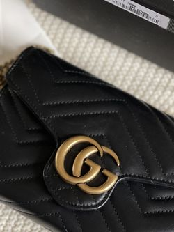 Gucci Black Gold Marmont Cellarius Bag Crossbody Wallet for Sale in Mercer Island,  WA