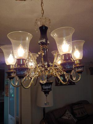 Italian glass hanging chandelier for Sale in Casselberry, FL