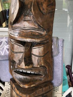 Hand Curved Tiki Mask for Sale in Seattle,  WA