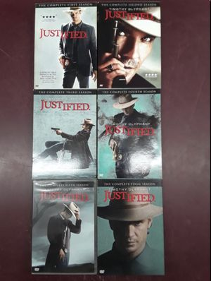 JUSTIFIED Complete Series 6 Season DVD Set TIMOTHY OLYPHANT for Sale in Columbus, OH