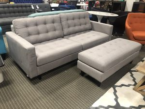 Modern sofa and ottoman for Sale in North Bethesda, MD