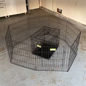 24in Pet Gate And Crate for Sale in Temecula, CA