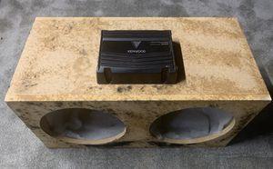 "12"" Sub box and amp for Sale in Central Falls, RI"