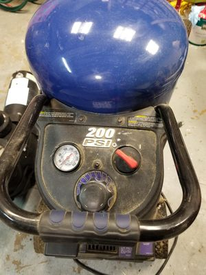 Air compressor with tools and hose for Sale in Port Richey, FL
