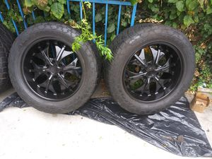4 rims with tires for Sale in Long Beach, CA