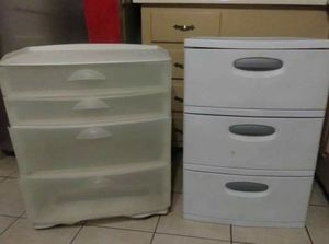 Plastic drawer $20 each for Sale in Mesquite, TX