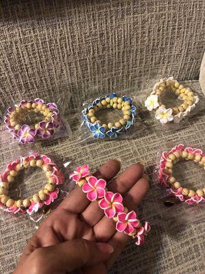 Wooden plumerias stretchy bracelets for Sale in Chandler, AZ