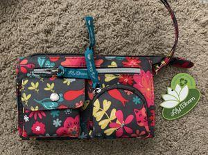 Lily Bloom Playful Garden floral flower Fox anima Kim wristlet wallet makeup bag NEW for Sale in Escondido, CA
