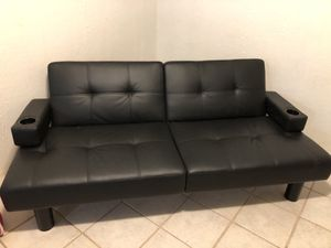 Leather futon for Sale in Huntsville, TX