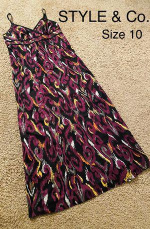 STYLE & Co., Maxi Multicolored Dress, Size 10 for Sale in Phoenix, AZ