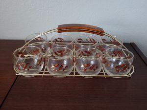 Vintage mid century set of glassware for Sale in Las Vegas, NV