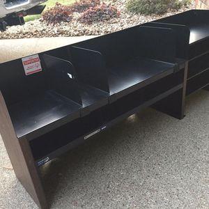 Desk Organizer Black And Woodtone for Sale in Evansville, IN