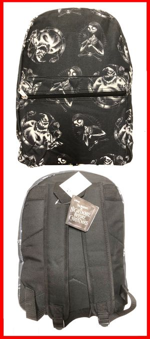 NEW! Disney the nightmare before Christmas Oogie Boogie Salley jack Skellington Backpack Mickey Disneyland travel bag book bag haunted mansion travel for Sale in Carson, CA
