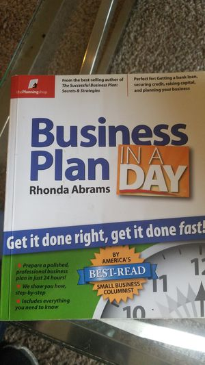 Business Plan In A Day for Sale in Saint Paul, MN