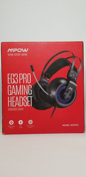 Mpow EG3 pro Gaming Headset with 3D Surround Sound, PS4 Xbox One Headset with Noise Cancelling Mic, Gaming Chat Headset, Over-Ear Gaming Headphones fo for Sale in Bellflower, CA