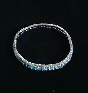 Stretchy Light Blue Rhinestone Bracelet/Anklet for Sale in Pico Rivera, CA