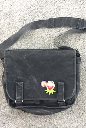 Messanger bag purse book school black canvas heavy duty Muppets for Sale in Tacoma, WA